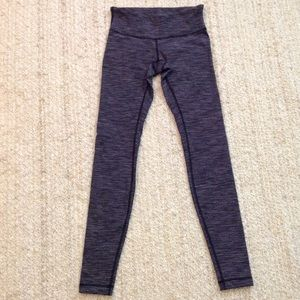 Lululemon pants leggings striped pattern size 4